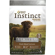 Nature's Variety Instinct Limited Ingredient Diet Duck Meal Formula Grain-Free Dry Dog Food, 25.3-lb bag