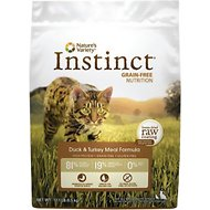 Nature's Variety Instinct Grain-Free Duck & Turkey Meal Formula Dry Cat Food, 12.1-lb bag