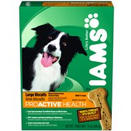 Iams ProActive Health Adult Large Biscuits Dog Treats, 1.5-lb box