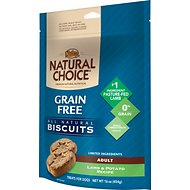 Nutro Grain-Free Biscuits Adult Lamb & Potato Recipe Dog Treats, 16-oz bag