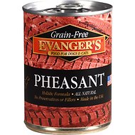 Evanger's Grain-Free Pheasant Canned Dog & Cat Food, 13-oz, case of 12