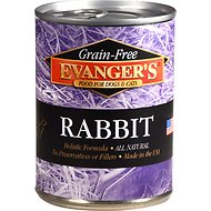 Evanger's Grain-Free Rabbit Canned Dog & Cat Food, 13-oz, case of 12