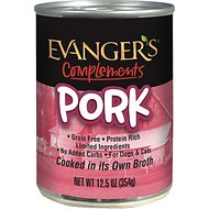 Evanger's Grain-Free Pork Canned Dog & Cat Food, 12.8-oz, case of 12