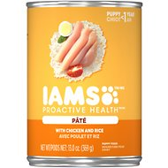 Iams Proactive Health Puppy With Chicken & Rice Pate Canned Dog Food, 13-oz, case of 12