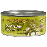 Evanger's Classic Recipes Goin' Fishin' Dinner Grain-Free Canned Cat Food, 5.5-oz, case of 24