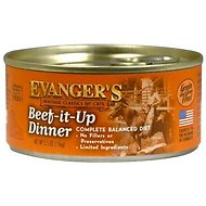 Evanger's Classic Recipes Beef it Up Dinner Grain-Free Canned Cat Food, 5.5-oz, case of 24