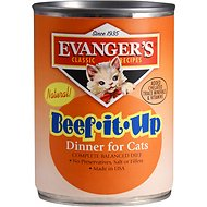 Evanger's Classic Recipes Beef it Up Dinner Canned Cat Food, 12.8-oz, case of 12