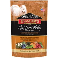 Evanger's Grain-Free Meat Lover's Medley with Rabbit Dry Dog Food, 33-lb bag