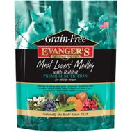 Evanger's Grain-Free Meat Lover's Medley with Rabbit Dry Cat Food, 4.4-lb bag