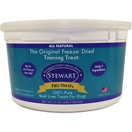 Stewart Pro-Treat Beef Liver Freeze-Dried Raw Dog Treats, 21-oz tub