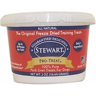 Stewart Pro-Treat Pork Liver Freeze-Dried Dog Treats, 2-oz tub