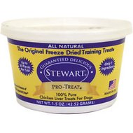 Stewart Pro-Treat Chicken Liver Freeze-Dried Dog Treats, 1.5-oz tub