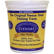 Stewart Pro-Treat Chicken Liver Freeze-Dried Dog Treats, 3-oz tub