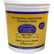Stewart Pro-Treat Chicken Liver Freeze-Dried Dog Treats, 11.5-oz tub