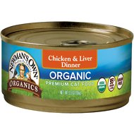 Newman's Own Organic Grain-Free 95% Chicken & Liver Dinner Canned Cat Food, 5.5-oz, case of 24