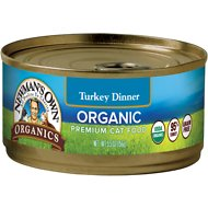 Newman's Own Organic Grain-Free 95% Turkey Dinner Canned Cat Food, 5.5-oz, case of 24