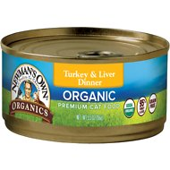 Newman's Own Organics Grain-Free 95% Turkey & Liver Dinner Canned Cat Food, 5.5-oz, case of 24