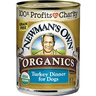 Newman's Own Organics Grain-Free 95% Turkey Dinner Canned Dog Food, 12.7-oz, case of 12