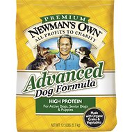 Newman's Own Advanced Formula Dry Dog Food, 12.5-lb bag