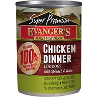 Evanger's Super Premium Chicken Dinner Grain-Free Canned Dog Food, 13-oz, case of 12