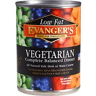 Evanger's Low Fat Vegetarian Dinner Canned Dog & Cat Food, 12.8-oz, case of 12