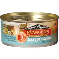 Evanger's Super Premium Seafood & Caviar Dinner Grain-Free Canned Cat Food, 5.5-oz, case of 24