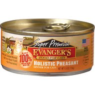 Evanger's Super Premium Holistic Pheasant Dinner Canned Cat Food, 5.5-oz, case of 24
