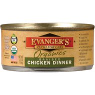 Evanger's Organics Braised Chicken Dinner Canned Cat Food, 5.5-oz, case of 24
