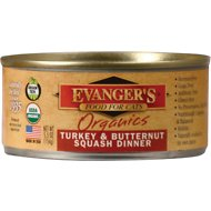 Evanger's Organics Turkey & Butternut Squash Dinner Canned Cat Food, 5.5-oz, case of 24