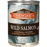 Evanger's Grain-Free Wild Salmon Canned Dog & Cat Food, 13-oz, case of 12