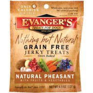 Evanger's Nothing But Natural Pheasant with Fruits & Vegetables Grain-Free Jerky Dog Treats, 4.5-oz bag