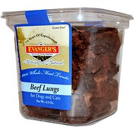 Evanger's Nothing but Natural Beef Lungs Raw Gently Dried Dog & Cat Treats, 2-oz tub