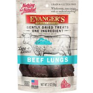 Evanger's Nothing but Natural Beef Lungs Raw Gently Dried Dog & Cat Treats, 2-oz bag