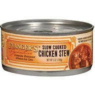 Evanger's Signature Series Slow Cooked Chicken Stew Grain-Free Canned Cat Food, 5.5-oz, case of 24