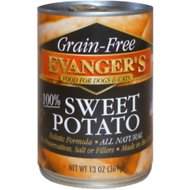 Evanger's Grain-Free Sweet Potato Canned Dog & Cat Food Supplement, 13-oz, case of 12