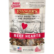 Evanger's Nothing but Natural Beef Hearts Gently Dried Dog & Cat Treats, 3.5-oz tub