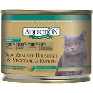 Addiction New Zealand Brushtail & Vegetables Entree Grain-Free Canned Cat Food, 6.5-oz, case of 24