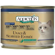 Addiction Unagi & Seaweed Entree Grain-Free Canned Cat Food, 6.5-oz, case of 24