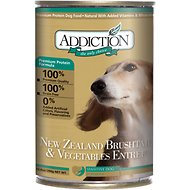 Addiction New Zealand Brushtail & Vegetables Entree Grain-Free Canned Dog Food, 13.8-oz, case of 12