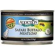 Addiction Grain-Free Safari Buffalo Meatloaf Canned Cat Food, 5.5-oz, case of 24