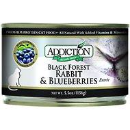 Addiction Grain-Free Black Forest Rabbit & Blueberries Entree Canned Cat Food, 5.5-oz, case of 24