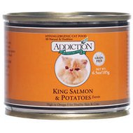 Addiction Grain-Free King Salmon & Potatoes Entree Canned Cat Food, 6.5-oz, case of 24