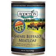 Addiction Grain-Free Buffalo Meatloaf Canned Dog Food, 13-oz, case of 12