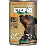 Addiction Grain-Free King Salmon & Potatoes Entree Canned Dog Food, 13.8-oz, case of 12