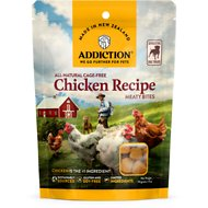 Addiction Meaty Bites Chicken Dog Treats, 4-oz bag