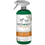 Vet's Best Flea + Tick Home Spray for Dogs & Cats, 32-oz bottle