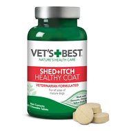 Vet's Best Healthy Coat Shed + Itch Dog Supplement, 50 count