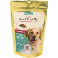 NaturVet Aller 911 Skin & Coat Plus Allergy Aid Dog & Cat Powder Supplement, 9-oz bag