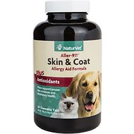 NaturVet Aller 911 Allergy Aid Skin & Coat Dog & Cat Tablets, 60 count