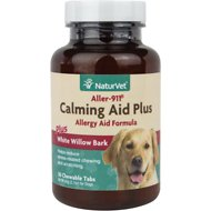 NaturVet Aller 911 Calming Aid Plus White Willow Bark Dog Tablets, 30 count